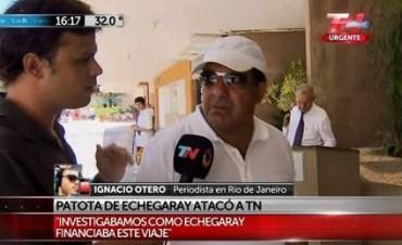 Una patota K de Echegaray atacó a un equipo periodístico de TN