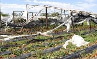 Un temporal causó cuantiosos daños materiales en Tosno
