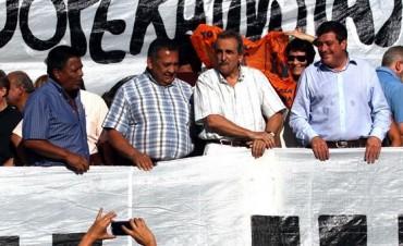 Guillermo Moreno, D'Elía, Sabbatella, Larroque y Carlotto encabezaron un acto por la liberación de Milagro Sala