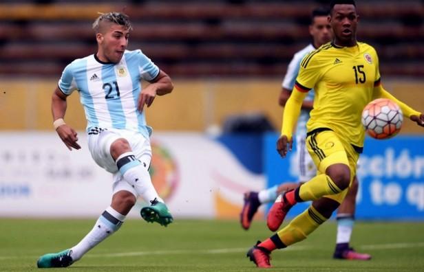 Argentina Sub 20 se recuperó con un agónico triunfo ante Colombia