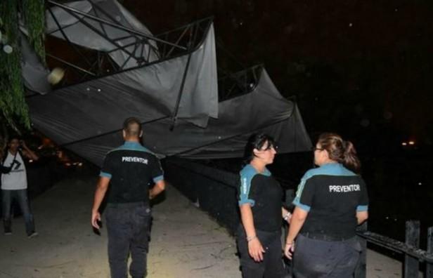 Temporal en Mendoza arrasó con el escenario y obligó a suspender una celebración por la Vendimia