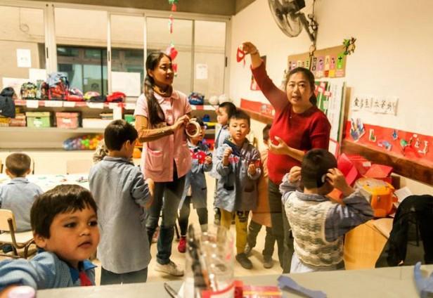 Chicos argentinos aprenden chino en el jard n de infantes for Chino el jardin