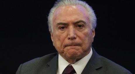 Temer, presidente de Brasil, fue grabado dando su aval a un soborno