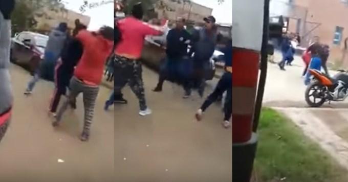 Padres se agarraron a trompadas en la puerta de un colegio