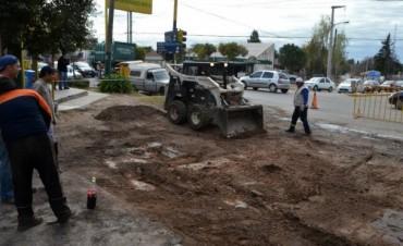 Reconstrucción de la esquina Av. Bodereau y Pedro Goyena en San Alfonso