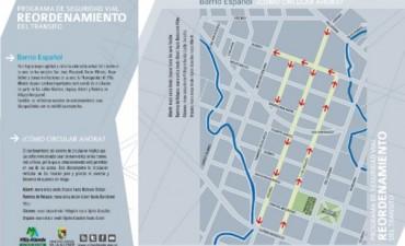 Cambia el sentido de circulación en calles de barrio Español