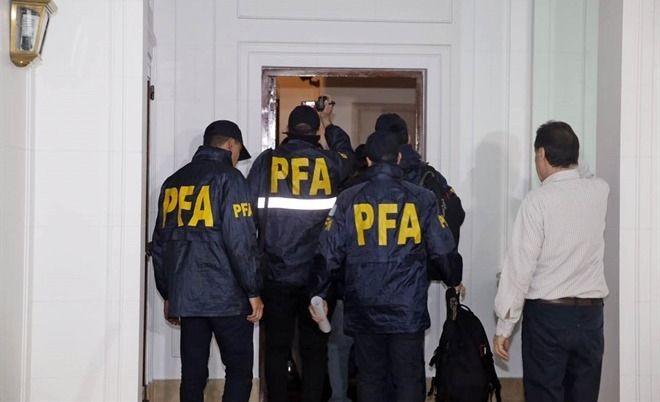 La Policía Federal hizo un allanamiento en el edificio donde vive Cristina Kirchner