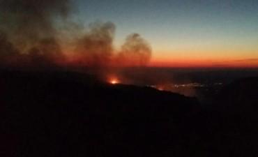 Combaten un incendio en Mina Clavero