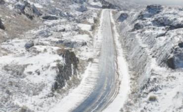 Nieva en el Camino a las Altas