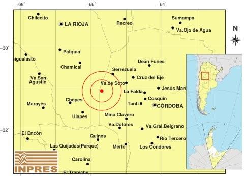 Se sintió un temblor por la tarde en Córdoba