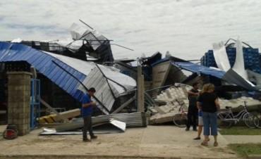 Muy violento temporal en Villa del Rosario