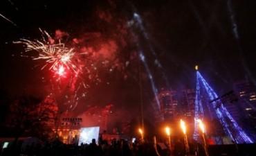 Córdoba encendió el Árbol de Navidad más grande del país