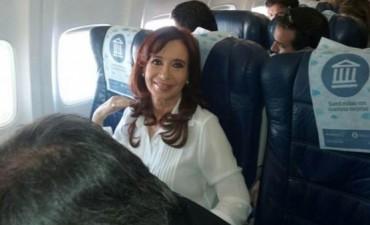 Cristina viajó a Río Gallegos en clase turista