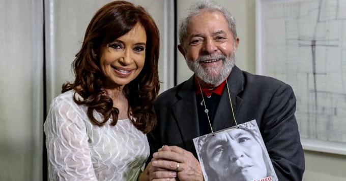 Cristina se reunió con Lula y Dilma