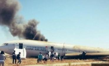 Avión cayó en San Francisco