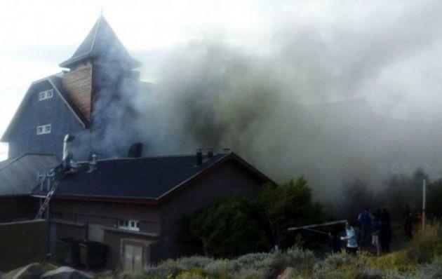 Se incendió el hotel Alto Calafate de Cristina Kirchner
