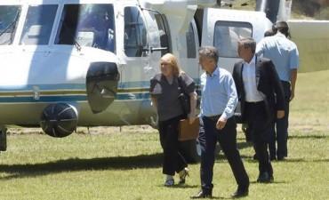 En plena búsqueda el presidente viaja a Santa Fe