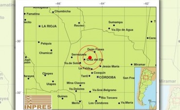Un sismo de 3,5 grados sacudió a Cruz del Eje
