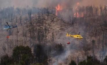 El incendio forestal en Chubut sigue sin control: ya se quemaron 1.600 hectáreas