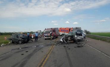 Dos muertos en el choque en ruta 19