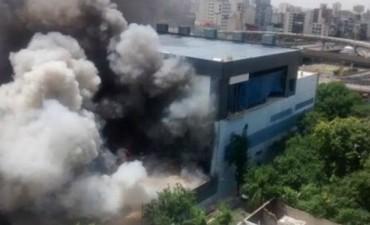Estiman accidental el incendio en los estudios de Canal 13 y TN