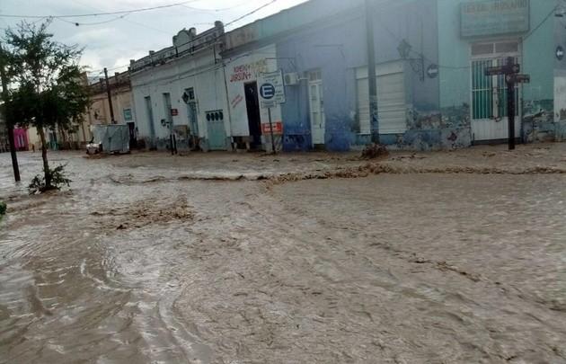 Violento temporal en el Valle de Lerma