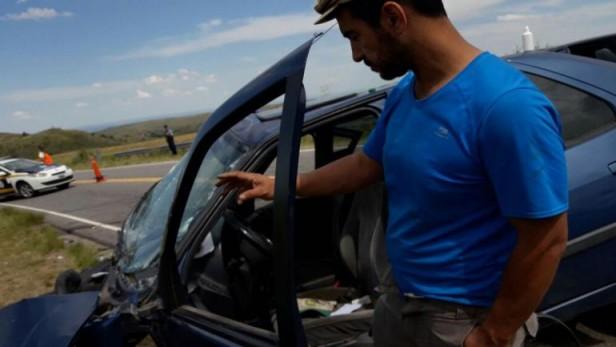 Ocho heridos en un choque frontal en el Camino del Cuadrado