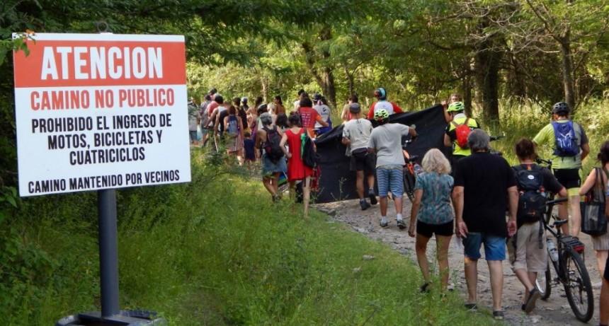 Marcharon para rechazar el cierre del Camino a San Fernando