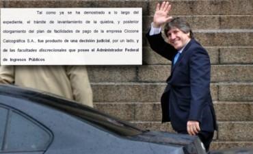 Amado Boudou deslindó la responsabilidad en Ricardo Echegaray por el caso Ciccone