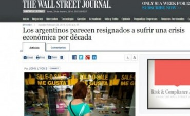 The Wall Street Journal, Argentina está al borde de otra turbulencia económica