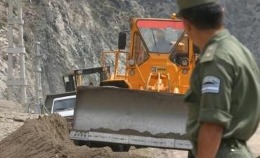 Mendoza: un alud derrumbó un puente de la ruta 7