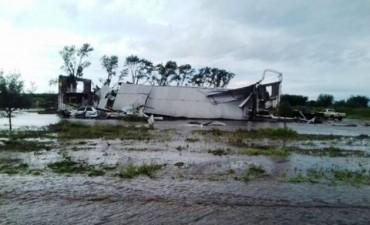 Desastres y evacuados en Sarmiento por la tormenta
