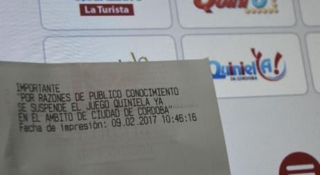 La Provincia le dio de baja a Quiniela Ya en todo Córdoba