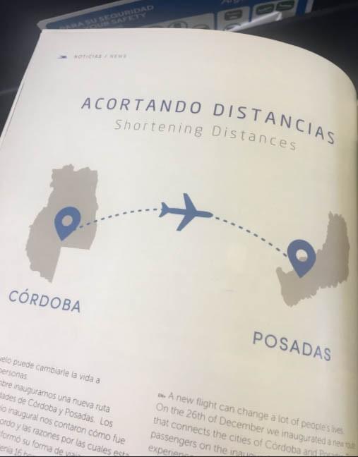 En Aerolíneas Argentinas confundieron Córdoba con Mendoza