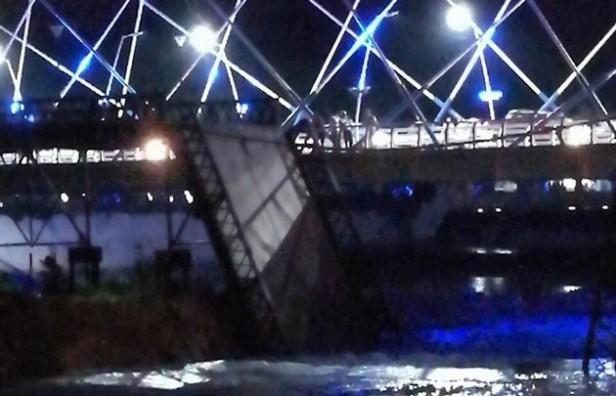Se cayó el puente Vélez Sarsfield de Villa María