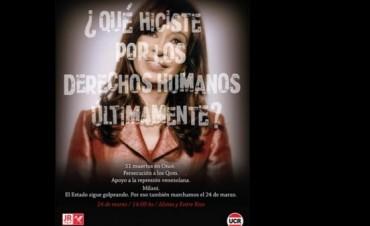 Capitanich defiende a Cristina tras los afiches de la UCR