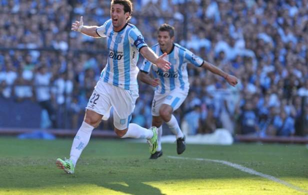 Con goles de Milito y Bou, Racing derrotó a San Martín (SJ)