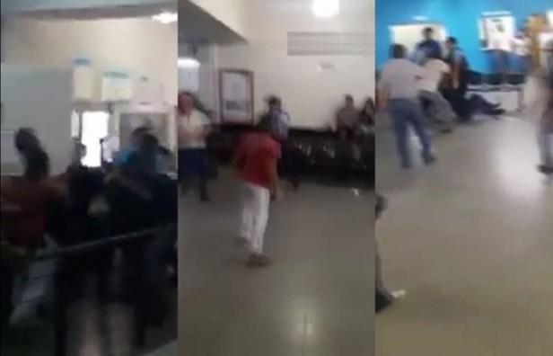 Policías, a las trompadas con trabajadores de un call center