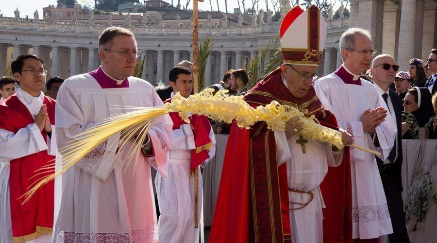 El Papa Francisco presidió en la Plaza de San Pedro la solemne celebración del Domingo de Ramos y de la Pasión del Señor.