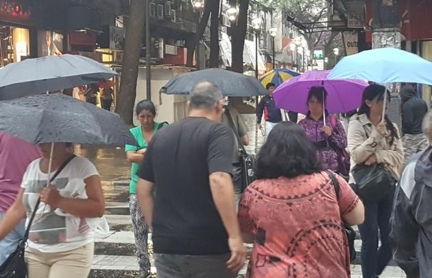 Alerta por tormentas para el centro del país