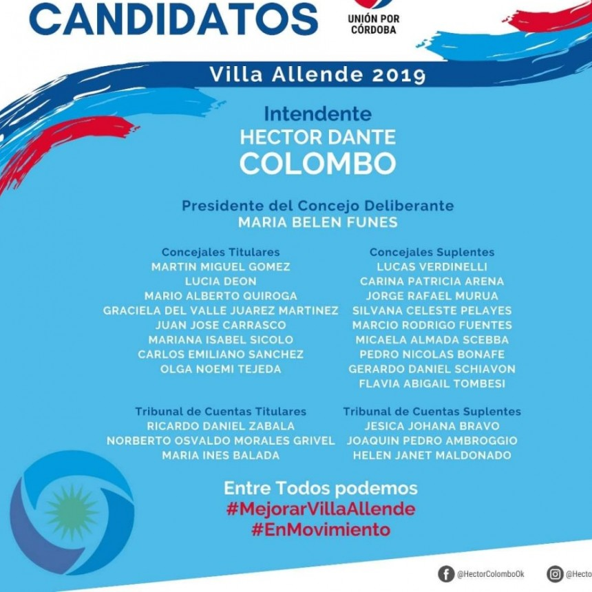 Ex intendente Colombo lanzó candidatura