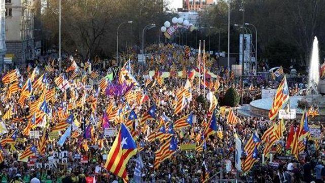 En Madrid, se juntaron por Cataluña