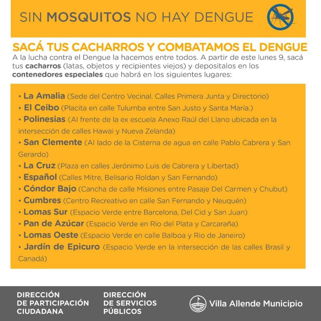 Evitar el Dengue es cuestión nuestra