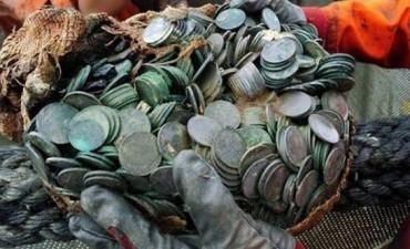 Recuperan un tesoro de US$ 50 millones de un barco de la Segunda Guerra