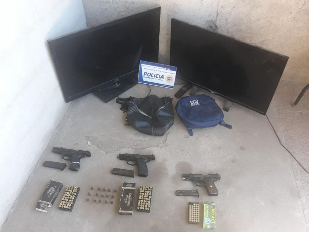 Importante operativo de la Brigada de Investigaciones en zona Portón de Piedra