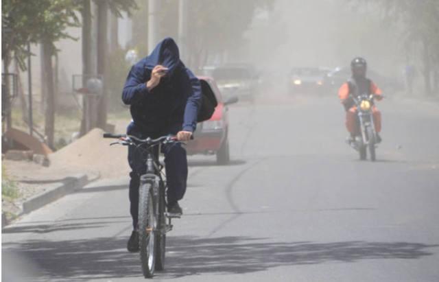 Alerta por vientos con fuertes ráfagas en el centro del país