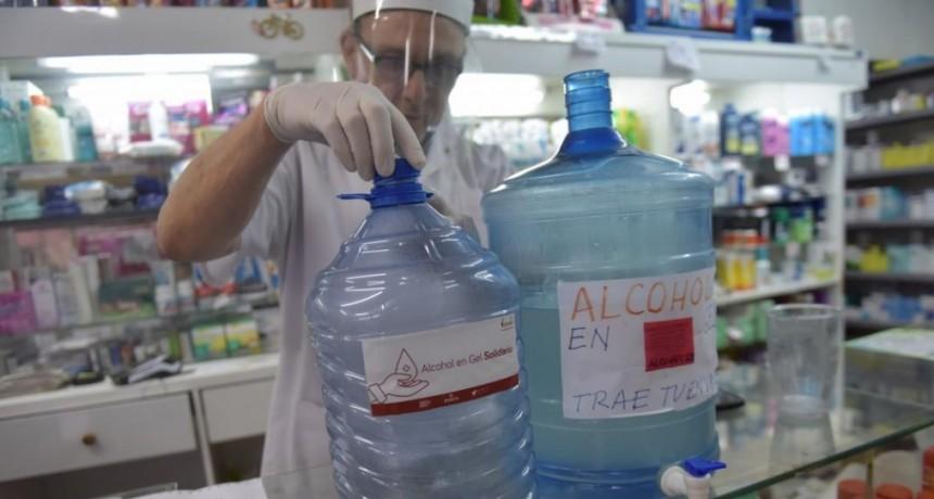 Farmacias. Ya se vende alcohol Gel fraccionado