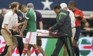 Copa un jugador de México se fracturó la tibia y no estará en la del Mundo