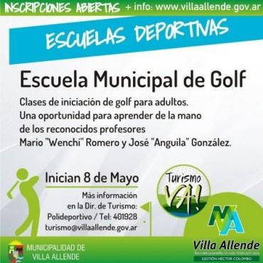 Golf: Este viernes comienzan las clases de iniciación para adultos