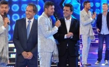 Scioli, Macri y Massa en el regreso de ShowMatch a TV